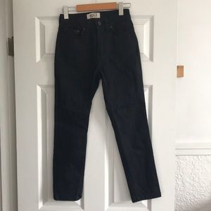 Naked and Famous the high skinny black ankle cropped jeans